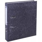 Пaпкa-регистратор OfficeSpace 50мм, мрамор, черная
