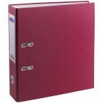 Пaпкa-регистратор OfficeSpace 70мм, бумвинил, с карманом на корешке, бордовая