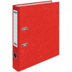 Пaпкa-регистратор OfficeSpace 50мм, мрамор, красная