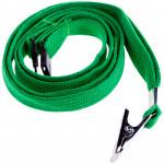 Набор шнурков для бейджей Berlingo, 45см, с клипсой, зеленые, 5шт.