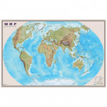 """Карта """"Мир"""" физическая 1:25млн. (1,22*0,79) матовая ламинация"""
