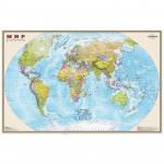 """Карта """"Мир"""" политическая 1:20млн. (1,56*1,01) матовая ламинация"""