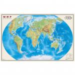 """Карта """"Мир"""" физическая 1:35млн. (0,9*0,58)"""