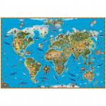"""Карта """"Мир"""" Обитатели Земли (1,29*0,89) матовая ламинация"""